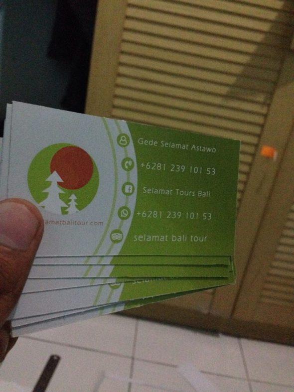 Kekuatan kartu nama / business card